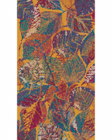 Abstract Leaves Print Scarf