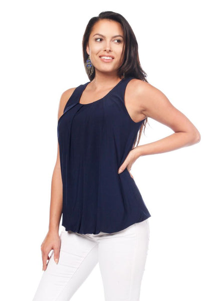 Pleated Tunic with Back Detail
