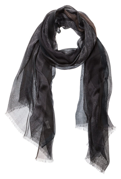 Graphic Check Print Scarf