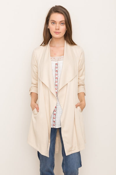 Draped Light Coat