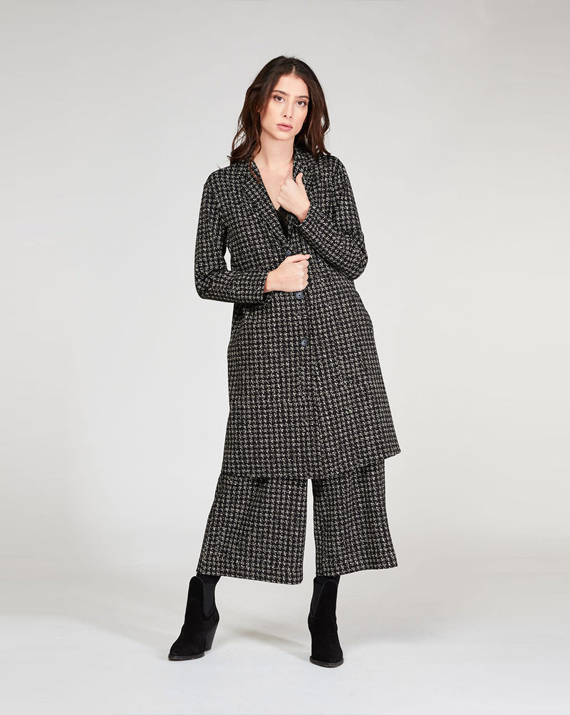 Houndstooth 3 Button Overcoat Tops - The Post Office by Shannon Passero. Fashion Boutique in Thorold, Ontario