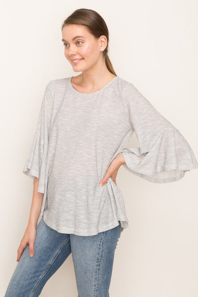Striped Peasant Top Mystree Canada