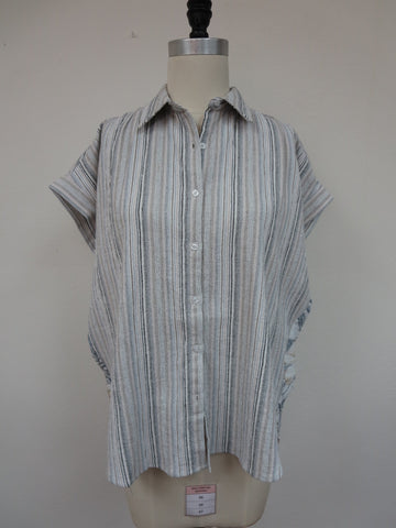Washed Stripe Buttondown Shirt Mystree Canada