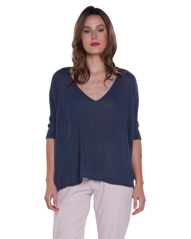 Baci Vneck 3/4 Sweater