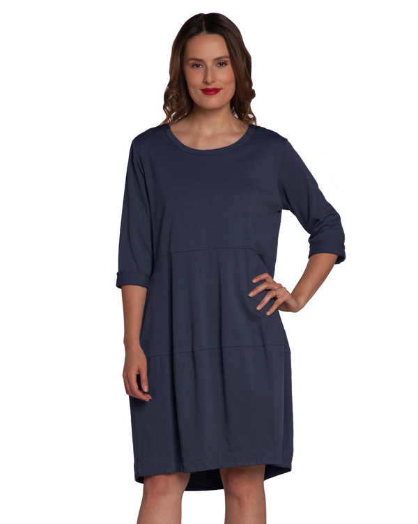 3/4 Slv. 2 Pocket Midi Dress Dresses - The Post Office by Shannon Passero. Fashion Boutique in Thorold, Ontario