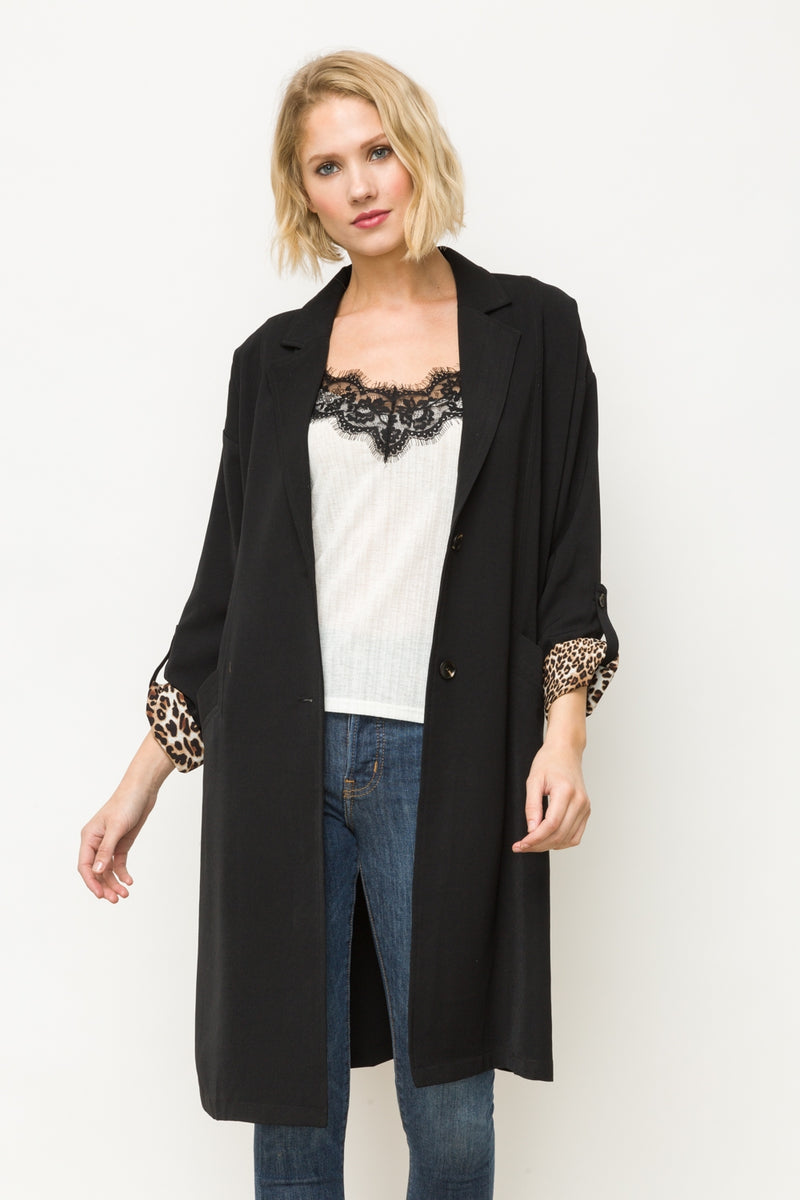 Easy Boxy Coat Tops - The Post Office by Shannon Passero. Fashion Boutique in Thorold, Ontario