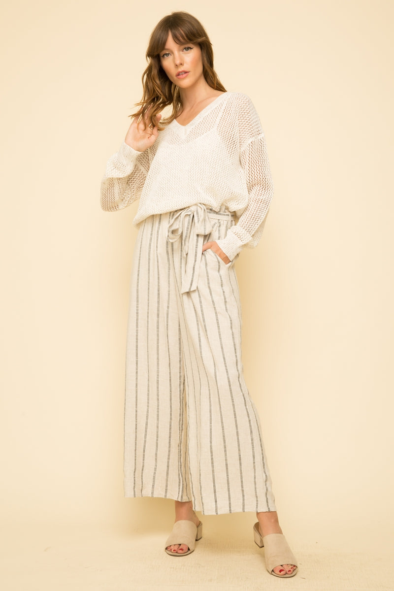 Stripe Paper Bag Pants Bottoms - The Post Office by Shannon Passero. Fashion Boutique in Thorold, Ontario