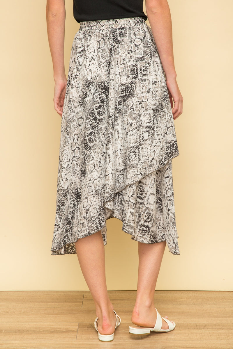 Snakeskin Wrap Skirt Bottoms - The Post Office by Shannon Passero. Fashion Boutique in Thorold, Ontario