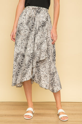 Snakeskin Wrap Skirt