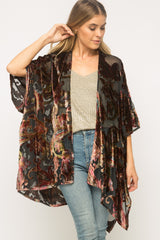 Printed Velvet Kimono Tops - The Post Office by Shannon Passero. Fashion Boutique in Thorold, Ontario