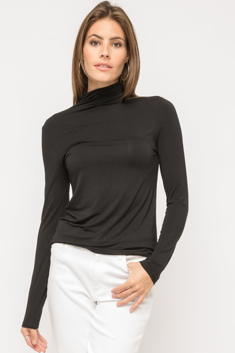 Basic Staple Turtleneck Tops - The Post Office by Shannon Passero. Fashion Boutique in Thorold, Ontario