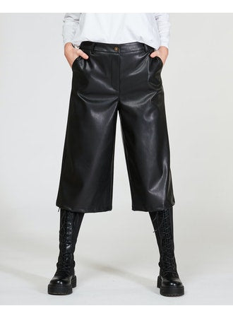 Faux Leather Palazzo Pant Bottoms - The Post Office by Shannon Passero. Fashion Boutique in Thorold, Ontario