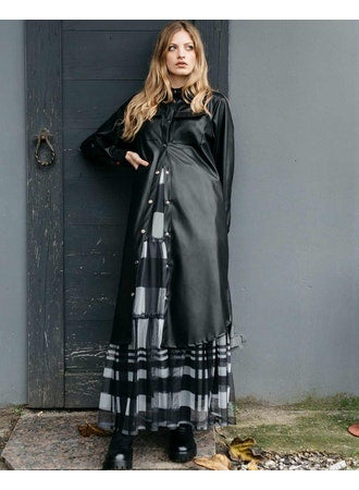 Faux Leather Button-Up Dresses - The Post Office by Shannon Passero. Fashion Boutique in Thorold, Ontario