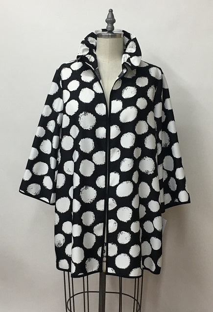 PolkaDot Hook Closure Jacket Tops - The Post Office by Shannon Passero. Fashion Boutique in Thorold, Ontario