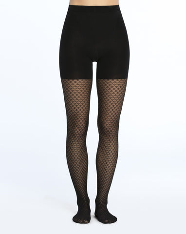 Honeycomb Fishnet Mid-thigh Shaping Tights Spanx