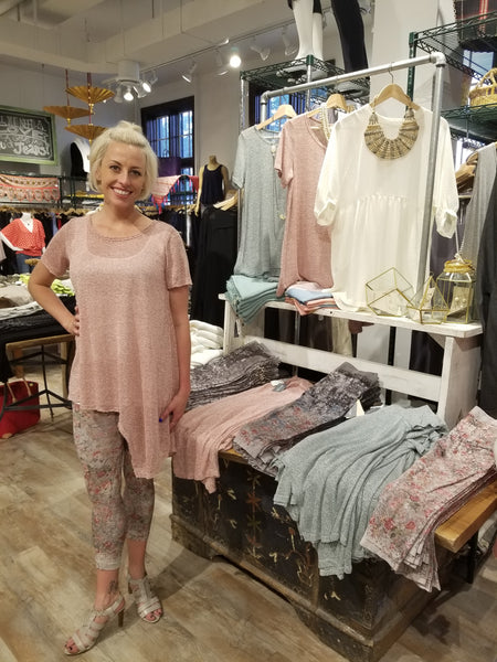 Asymmetric Hem Flare Top Tops - The Post Office by Shannon Passero. Fashion Boutique in Thorold, Ontario