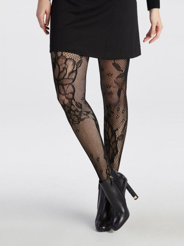 Fishnet Floral Tights Intimates - The Post Office by Shannon Passero. Fashion Boutique in Thorold, Ontario