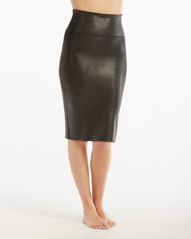Faux Leather Pencil Skirt Spanx Canada