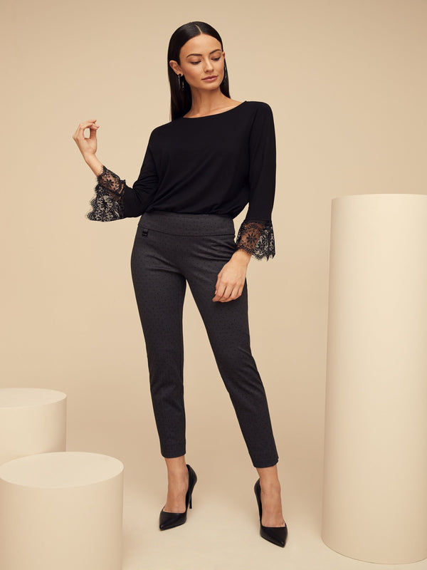 Owen Dot Slim Ankle Pant Bottoms - The Post Office by Shannon Passero. Fashion Boutique in Thorold, Ontario