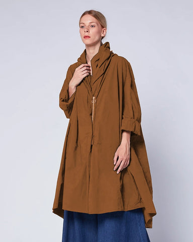 Asymmetrical Zip Cowl Jacket