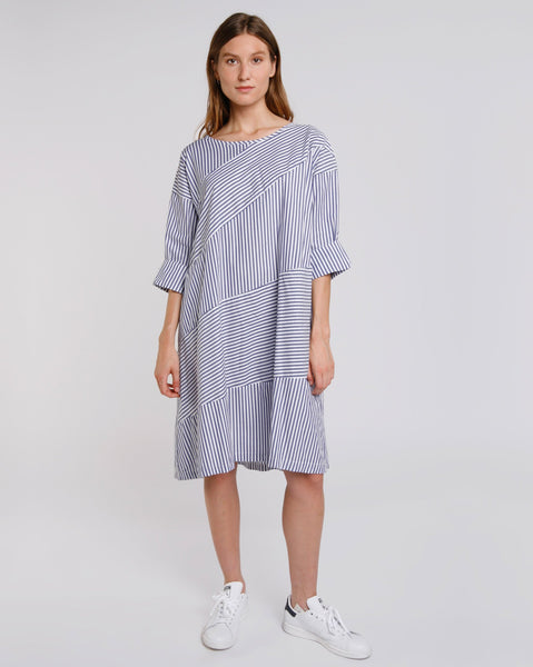 Contrast Stripe Swing Dress Baci Canada