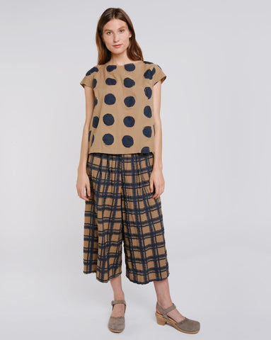 Polka Dot Cap Sleeve Top Baci Canada