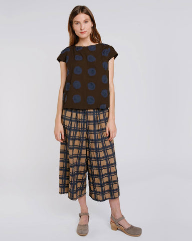 Polka Dot Cap Sleeve Top