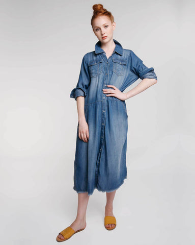 Chambray Work Shirtdress