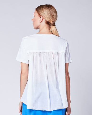 High Ruffle Back Tee