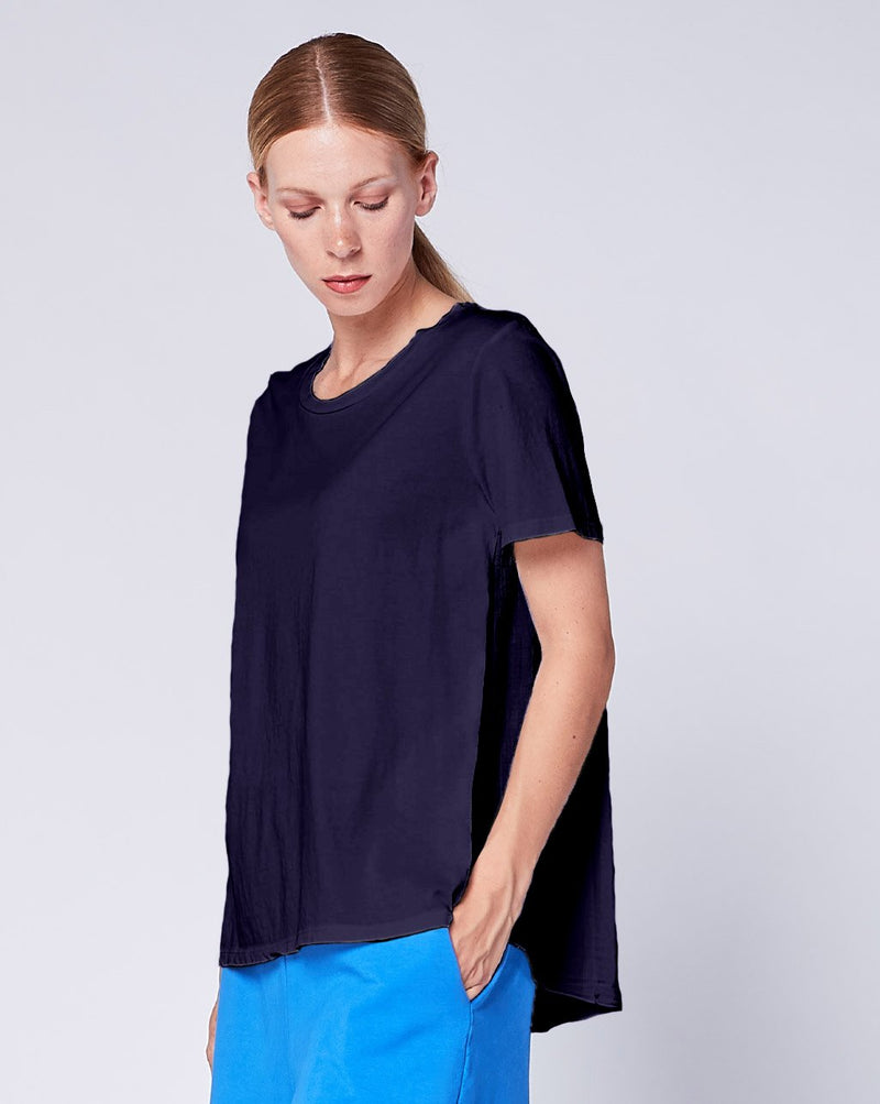 High Ruffle Back Tee Tops - The Post Office by Shannon Passero. Fashion Boutique in Thorold, Ontario