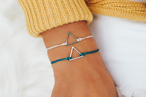 Gold Triangle Bracelet Jewelry - The Post Office by Shannon Passero. Fashion Boutique in Thorold, Ontario