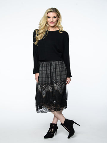 Lace Detail Skirt Isle by Melis Kozan Canada