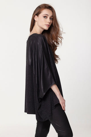 Asymmetrical Poncho Top