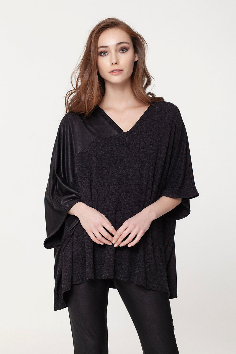 Asymmetrical Poncho Top Tops - The Post Office by Shannon Passero. Fashion Boutique in Thorold, Ontario