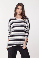 Skinny Sleeve Boatneck Top Tops - The Post Office by Shannon Passero. Fashion Boutique in Thorold, Ontario