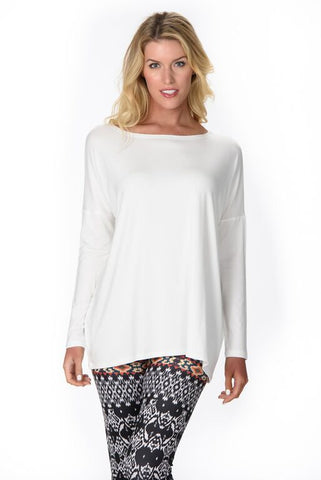 White Boatneck Skinny Top Isle