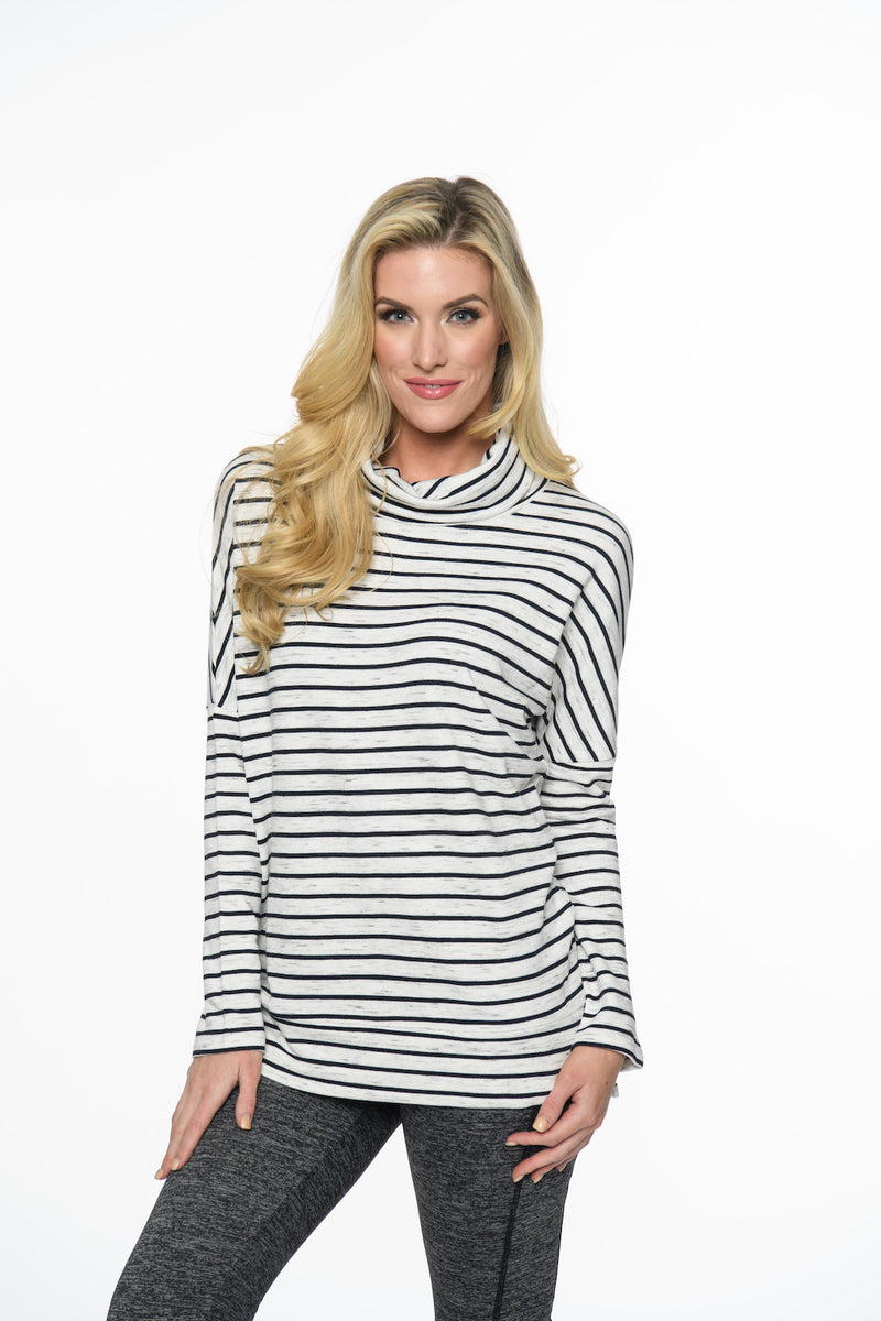 Striped Cowlneck Tops - The Post Office by Shannon Passero. Fashion Boutique in Thorold, Ontario