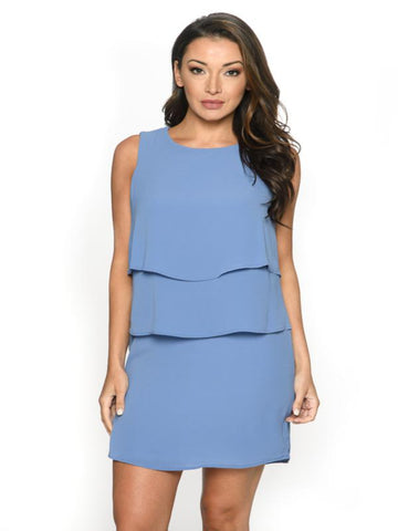 Layered  Crepe Dress Isle Canada