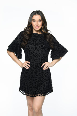 Leopard Burnout Dress Isle