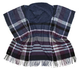 Tartan Cowlneck Poncho Coverups - The Post Office by Shannon Passero. Fashion Boutique in Thorold, Ontario