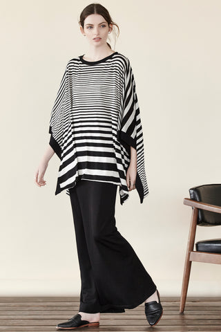 Stripe Square Poncho Shannon Passero Collection