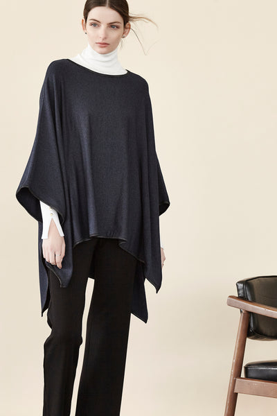 Fleece HiLo Square Poncho