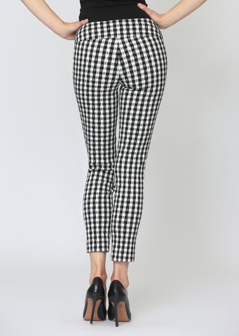 Gingham Jacquard Thinny Crop