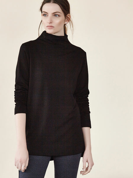 Fleece Jewel Neck L/S Top