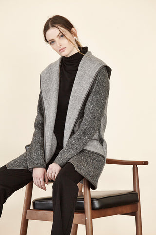 Brushed Sweater Hooded Jacket