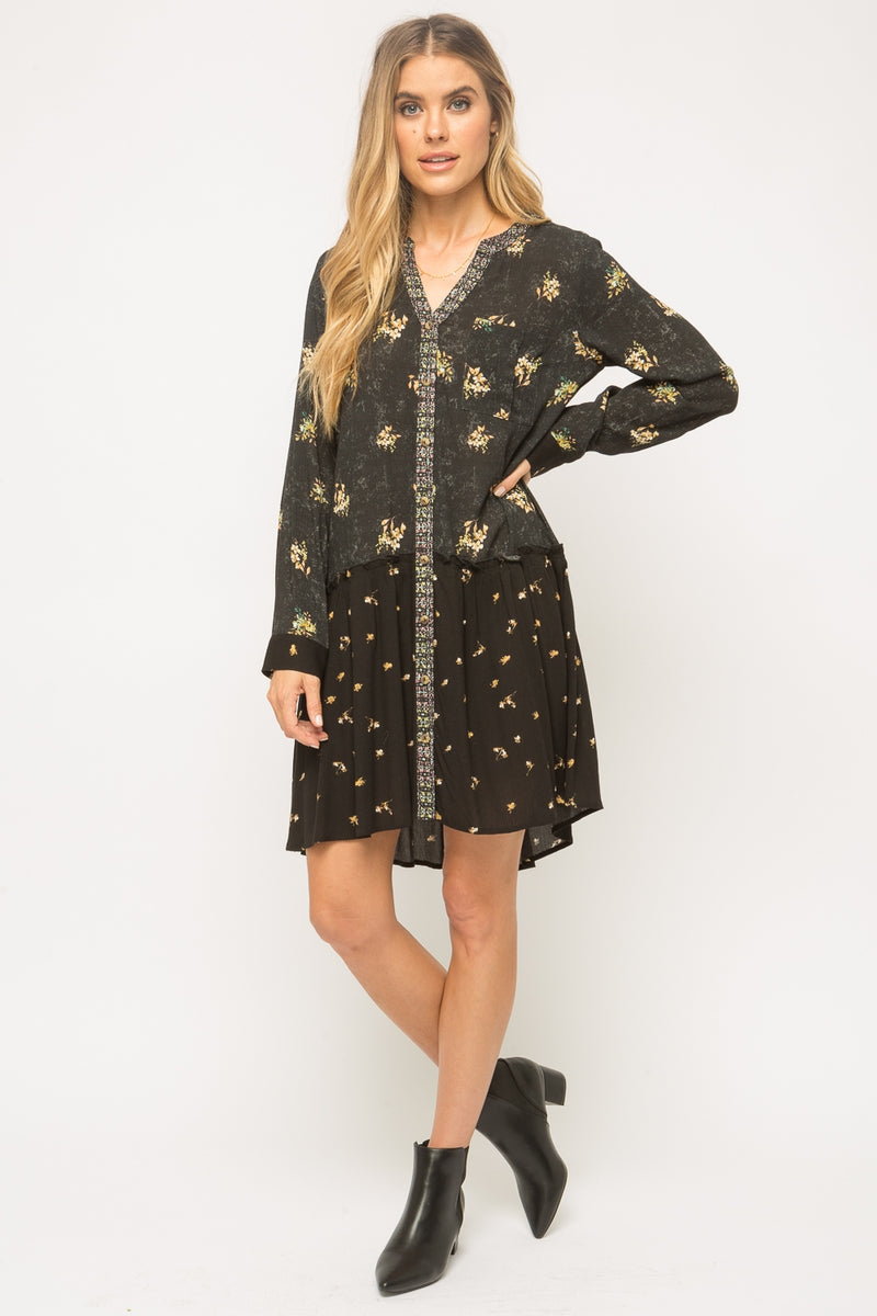 Printed Shirt Dress Dresses - The Post Office by Shannon Passero. Fashion Boutique in Thorold, Ontario