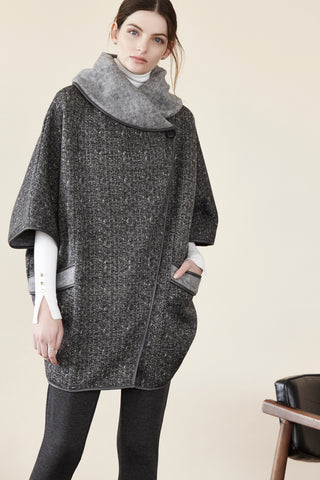 Brushed Sweater Knit Cape