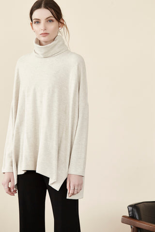 Brushed Terry Tneck L/S Top Shannon Passero Design Canada