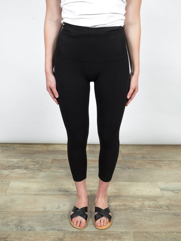 Tummy Tuck Cropped Legging Bottoms - The Post Office by Shannon Passero. Fashion Boutique in Thorold, Ontario