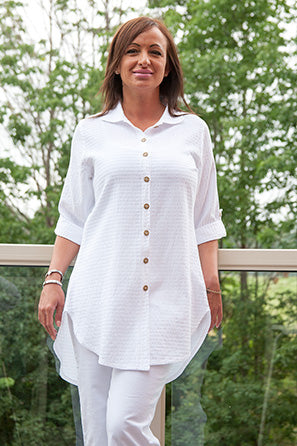 Mieke Shirt Linen - The Post Office by Shannon Passero. Fashion Boutique in Thorold, Ontario